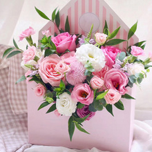 เกาหลีสไตล์ Bouquet กล่องพับซองจดหมายกล่องดอกไม้ดอกไม้วันแม่กล่องโรแมนติกซองจดหมายดอกไม้ผู้ถือกระดาษ