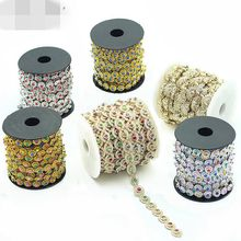 2Yards/Lot Flower Diamond Bling Crystal Ribbon Wrap Trim DIY Home Wedding Cake Party Decorations Gold Silver lace Trimming