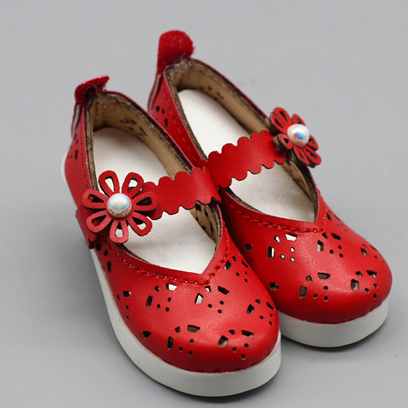 New Arrival Red Leather <font><b>Shoes</b></font> Fit Fit For 1/3 <font><b>1/4</b></font> <font><b>BJD</b></font> 60cm SD DD DOD <font><b>Dolls</b></font> Children Best Birthday Gift image