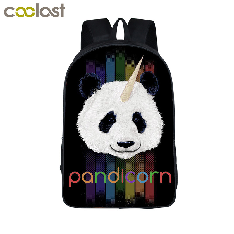 Funny Pandicorn Backpack For Teenage Girls Cartoon Panda Unicorn Children School Bags Backpacks Kids Book Bag Best Gift
