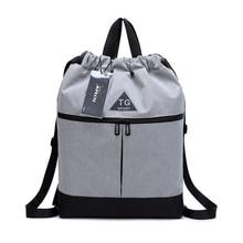 Travel Backpack Storage bag Finishing Drawstring Waterproof Oxford Cloth Bundle Pocket