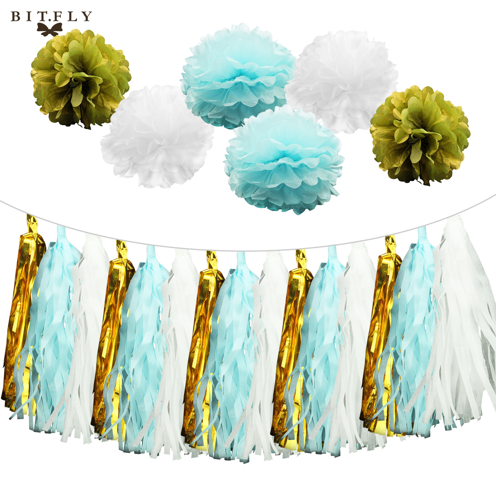 100 Blue And Gold Baby Shower Decorations