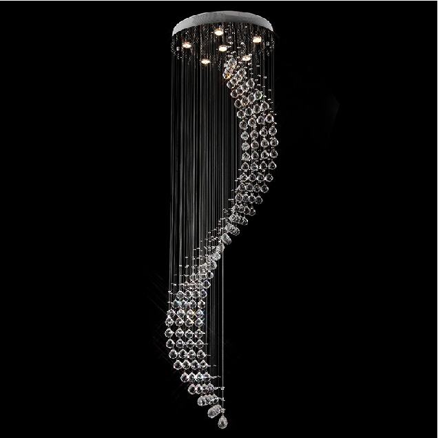 Aliexpress.com : Buy Modern crystal chandelier ceiling lamp Spiral ...