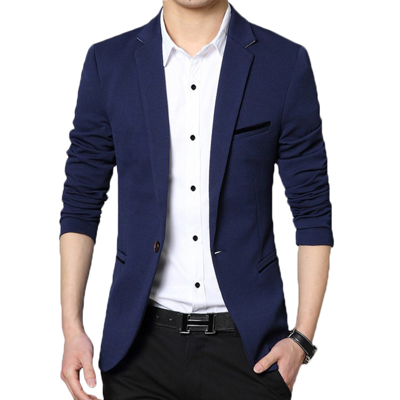 Popular Blazer Men Black-Buy Cheap Blazer Men Black lots from ...