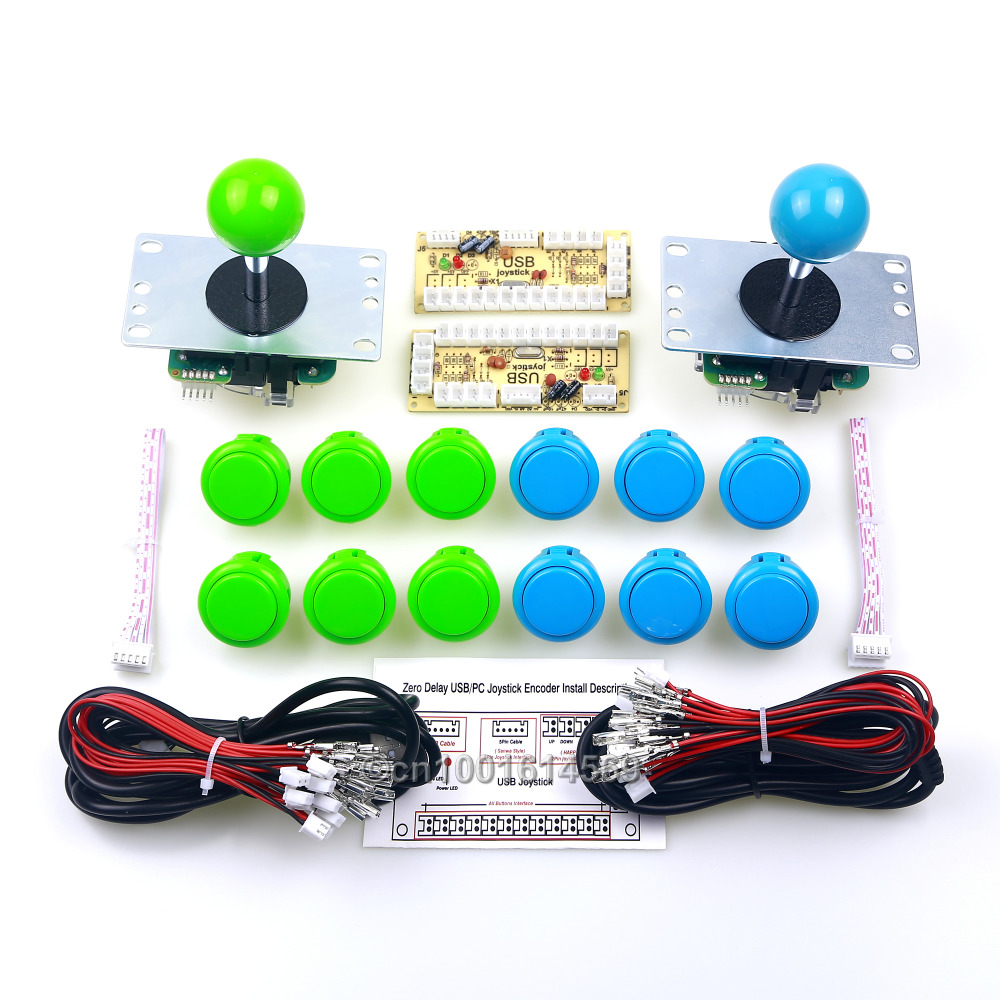 Reyann 2 Players SANWA OBSF-30 Push Buttons + 2 x Sanwa JLF-TP-8YT Joystick + 12 x SANWA Push Buttons + 2 x PC Encoder MAME Game 300 x disassemble nylon push rivets fasteners for 1 2 2 1mm thick panel