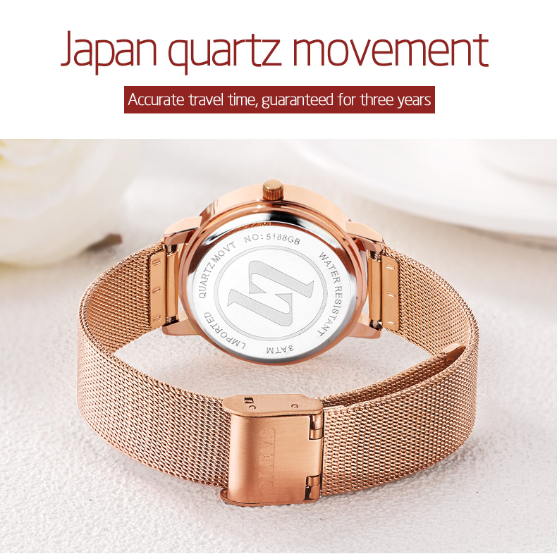 OLEVS Top Brand Elegant Luminous Water Proof Ladies Watch