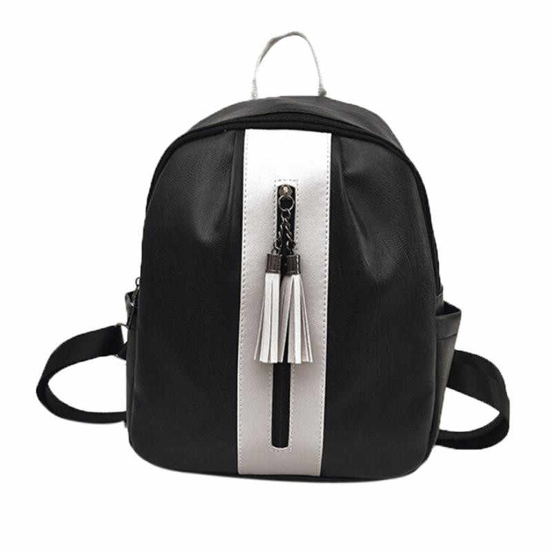 Detail Feedback Questions about Tassel Travel Backpack Women Zipper Backpack  Mini Backpacks Leather Backpacks Shoulder Rucksack School Bags Daypack ... 0b01170ff49c1
