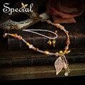 Especial de moda de nova declaração colares de pérolas Natural e pingente de opala colar de jóias finas presentes para mulheres XL160204