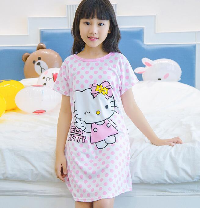 Summer girls dress Cartoon Princess dresses for girls night gown Pajamas night dress Kids Sleepwear Pyjamas clothes HX882