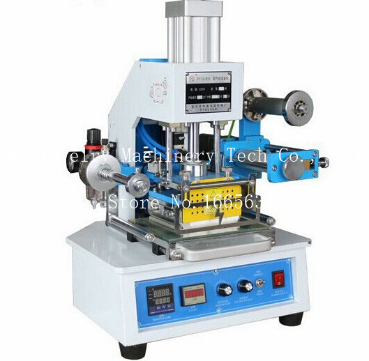 Pneumatic Hot Stamping Machine 116*120mm Printable Area Press Leather LOGO Stampler Printer ZY 819E
