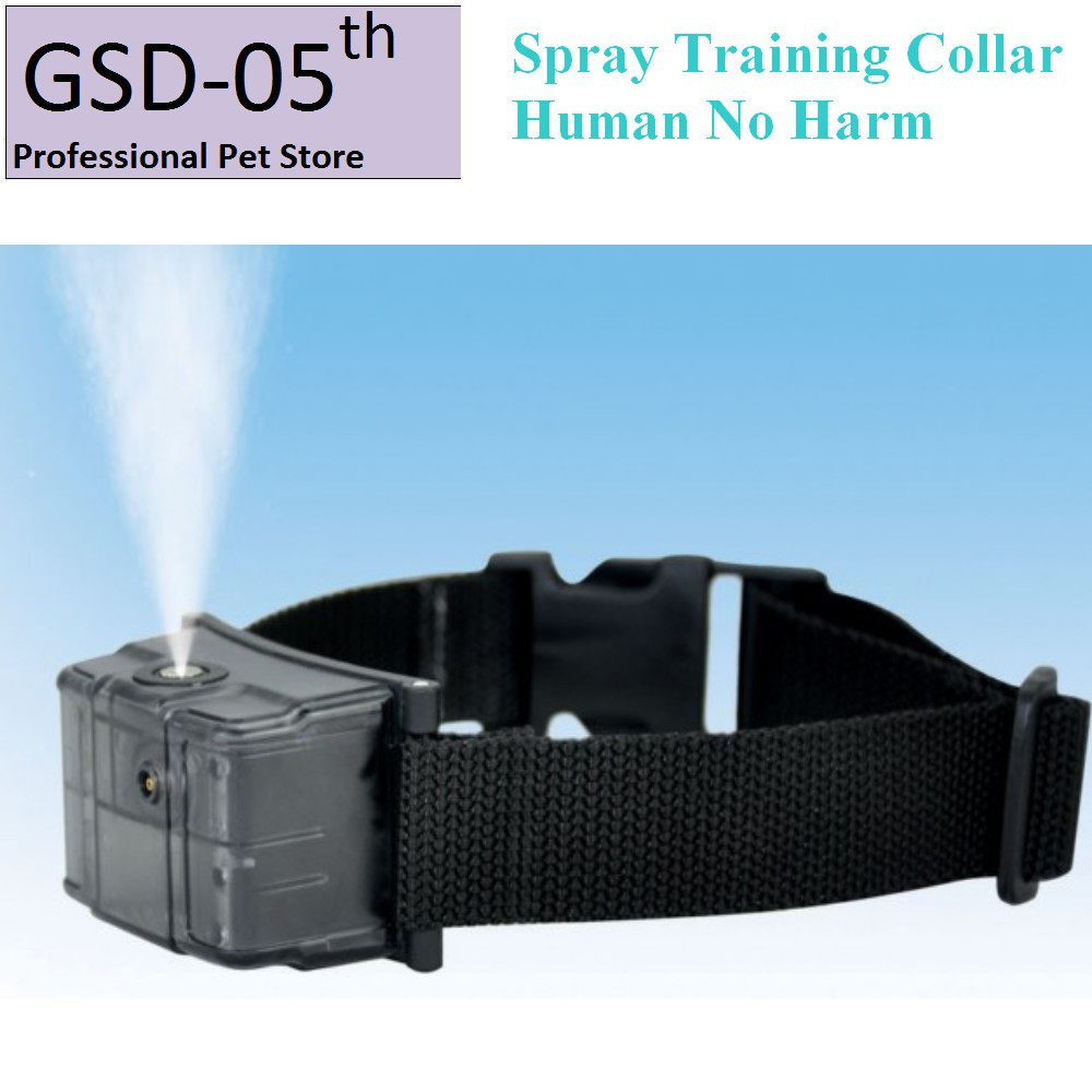 New Automatic Pet Human Spray Training Collar Anti Bark Stop Collar for Dog No Harm dog care training collar