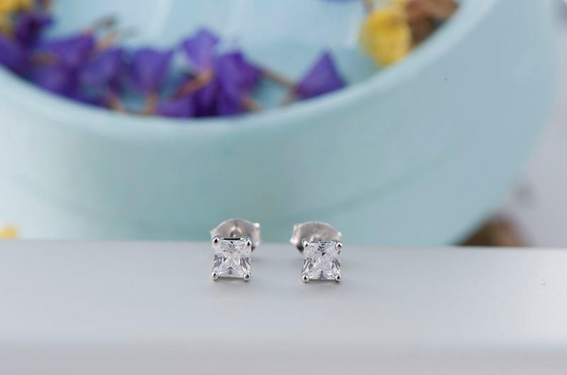 925 sterling silver stud earrings square NE02300B (7)