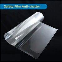 1.52 m x 30 m toptan güvenlik filmi şeffaf güvenlik cam koruyucu film temizle folyo evi cam banyo araba için pencere