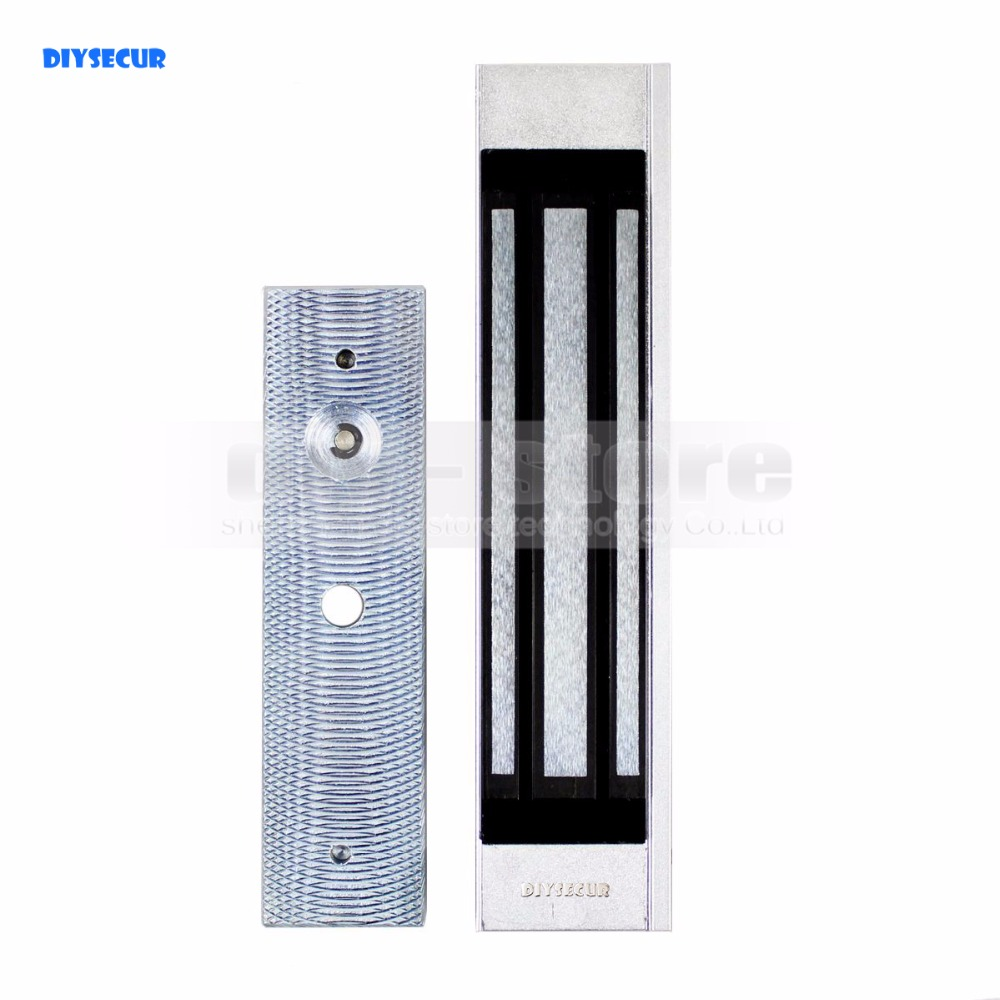 DIYSECUR For Door Access Control Use 180Kg 350lb Electric Magnetic Lock New diysecur electric magnetic lock 180kg 350lb holding force for iron glass wooden door access control system use