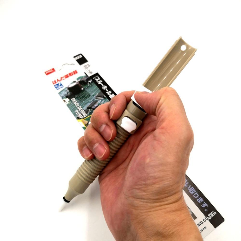 Japón GOOT succión GS-108 soldadura Removal Tool bomba desoldadora luz fuerte económico eje de autolimpieza soldadura