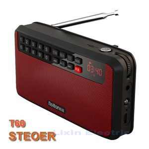 Image 2 - RoltonT60 MP3 נגן מיני נייד אודיו רמקולים 2.1 FM רדיו עם LED מסך תמיכה TF כרטיס משחק מוסיקה גבוהה LED פנס