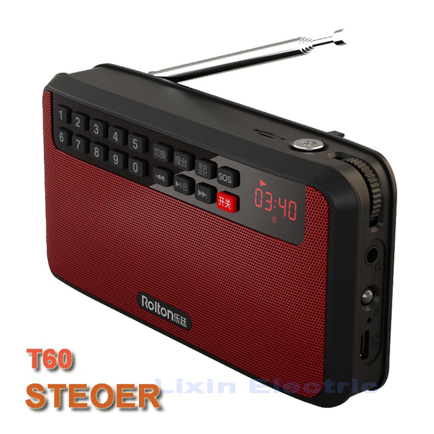 RoltonT60 MP3-afspiller Mini bærbare lydhøjttalere 2.1 FM-radio med - Bærbar lyd og video - Foto 5