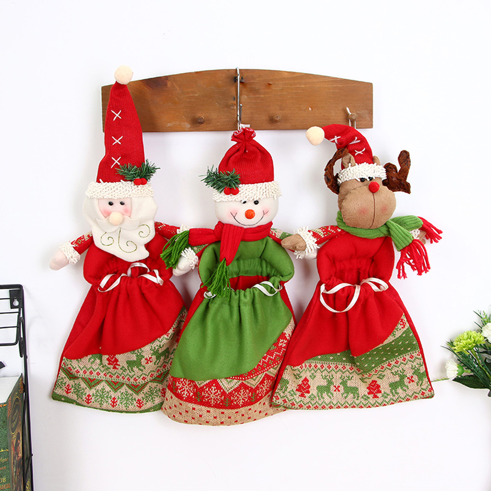 Christmas Ornaments Christmas Tree Pendants Gift Santa Claus Snowman Toy Big  Pocket Doll Hang Christmas Decorations