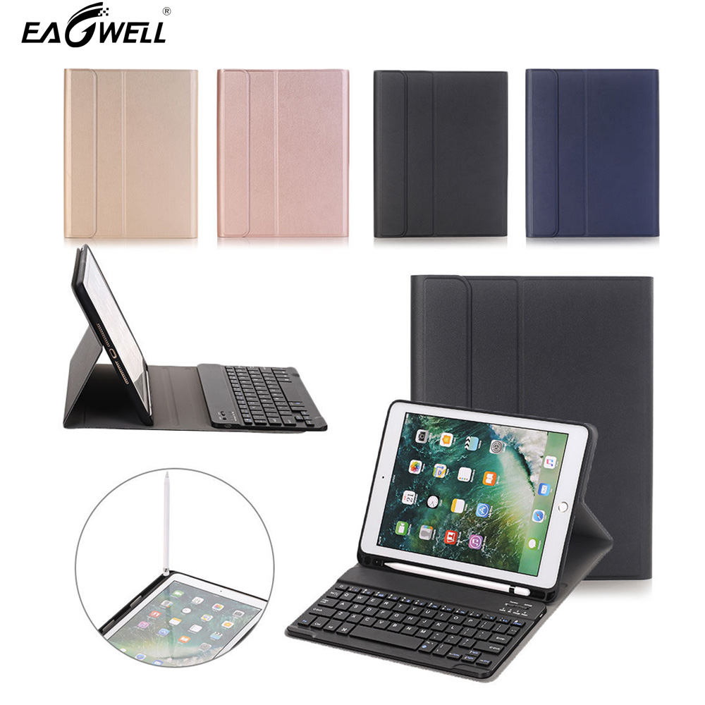2 in 1 Detachable Wireless Bluetooth Keyboard + Case With Pen Slot Holder Design For Apple ipad Pro 10.5 TPU + ABS Keyboard Case цена