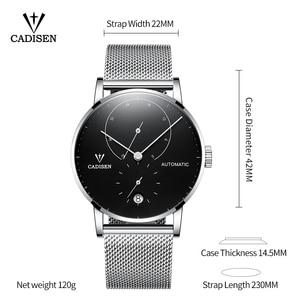 Image 5 - ساعات رجالي CADISEN 2018 من أفضل العلامات التجارية الفاخرة التلقائي ساعة ميكانيكية الرجال الصلب الكامل الأعمال مقاوم للماء موضة الساعات الرياضية
