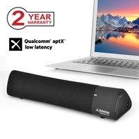 Avantree 10W Aptx Low Latency Bluetooth 4.2 Laptop Speakers, Wireless Soundbar Super Bass Mini Sound Bar for TV Game