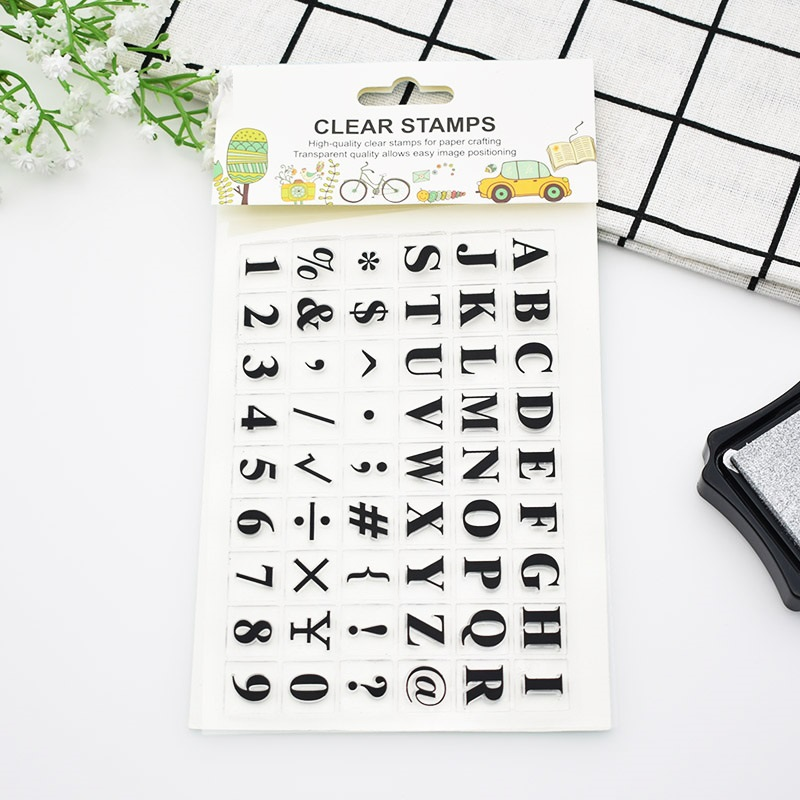1 Sheet Alphabet Number Silicone Clear Stamps For Scrapbooking Operator Rubber Stamps Set For Photo Album Free Shipping 68521 1 sheet happy birthday silicone clear stamps for party decoration rubber stamps for crafts and scrapbooking free shipping 68508