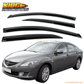 For 2009-2013 Mazda 6 Smoked Aero JDM Wind Deflectors Stick On Window Visors USA Domestic Free Shipping