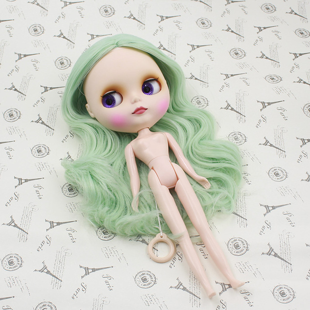 Neo Blythe Doll Scalp Wigs Light Green Hair