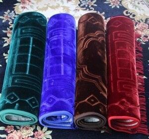 Image 1 - 80*125cm large soft flannel Prayer blanket MashaAllah Travelling Islamic Muslim Prayer Mat/ Rug/ Carpet Salat Musallah free ship