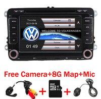 In Magazzino 7 pollice Touch Screen 2din Car DVD VW Golf Polo Jetta Passat Tiguan con 3G GPS Radio Bluetooth volante USB SD