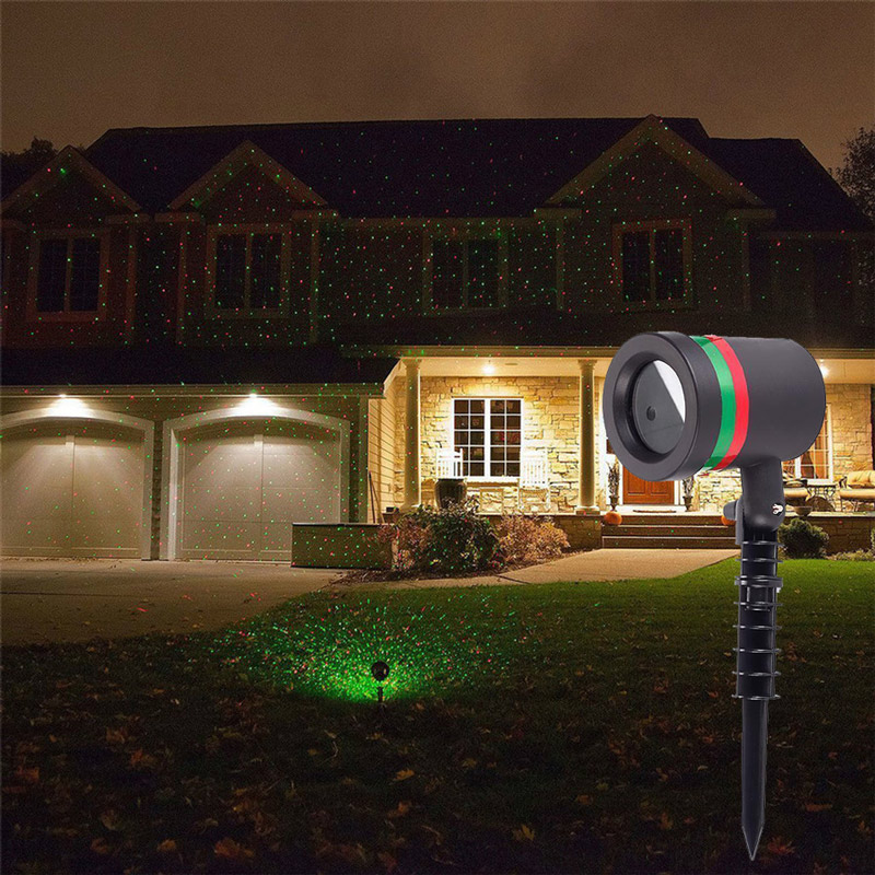Christmas Outdoor Sky Star Laser Projector Garden Lawn Landscape Shower Lamps Stage R&G DJ Disco Lights Party Light New Year