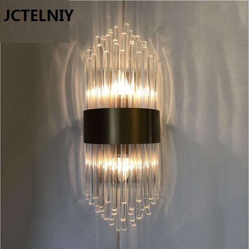 Современные хрустальные Белая настенная лампа количество e14 vanity свет, настенный свет вверх вниз