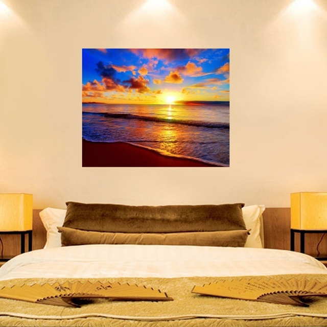 Beautiful Sunrise Beach Sea Scenery 5D Full Square Diamond Painting ...