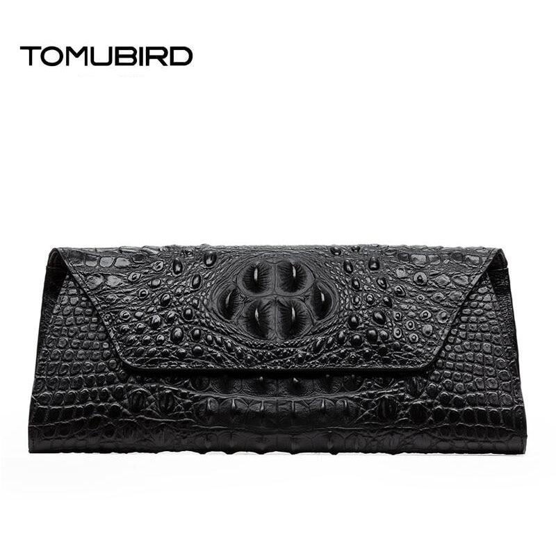 TOMUBIRD 2017 nuevo diseñador de cuero de grano de cocodrilo - Bolsos - foto 2