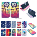 "Cartoon Graffiti Dreamcatcher Flip Wallet Phone Case Stand Design PU Leather For iphone 6 4.7"" Case Cover W/ Card Holder"