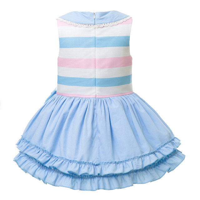Summer Party Girls Dress With Bow