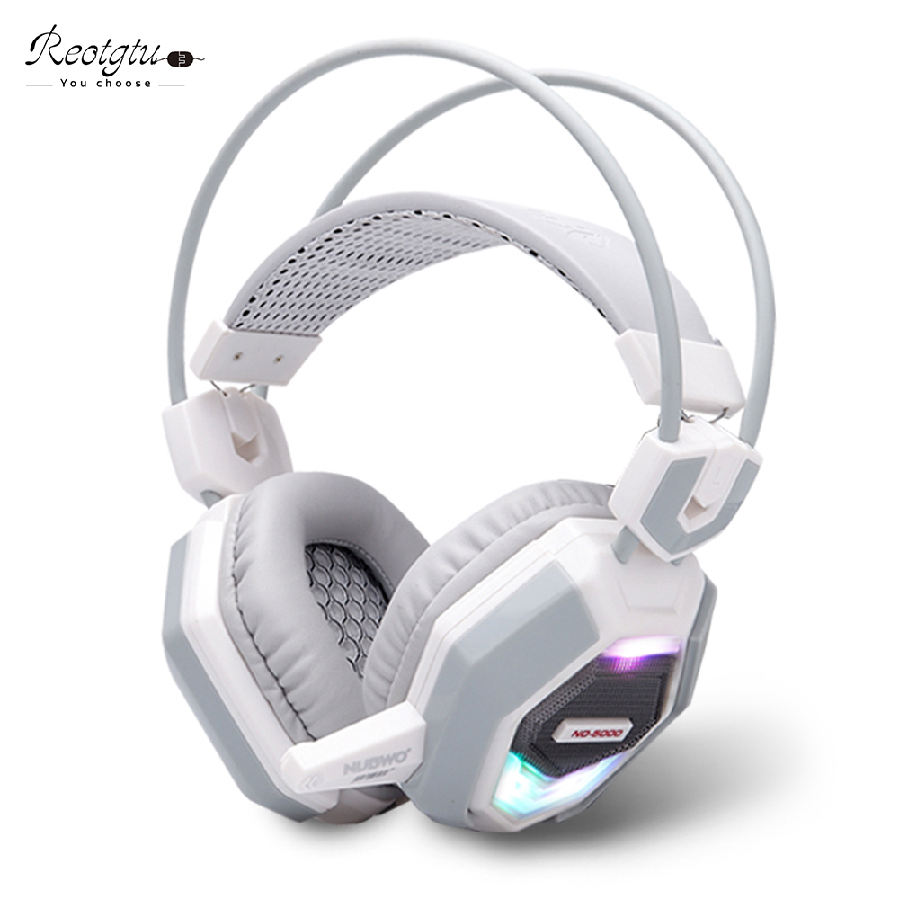 new fashion stereo glow pc gaming headphone gamer headset headband casque audio with mic. Black Bedroom Furniture Sets. Home Design Ideas