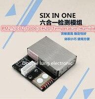 Latest sensor PM2.5 Air particle/dust sensor/ + temperature and humidity + TVOC + formaldehyde + CO2 six in one sensor