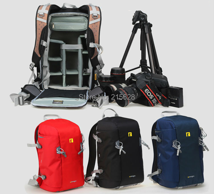 Large Size Professional  Anti-theft Digital SLR/DSLR Camera Backpack Waterproof Photo Video Bag Case daypack For Canon Nikon lowepro protactic 450 aw backpack rain professional slr for two cameras bag shoulder camera bag dslr 15 inch laptop