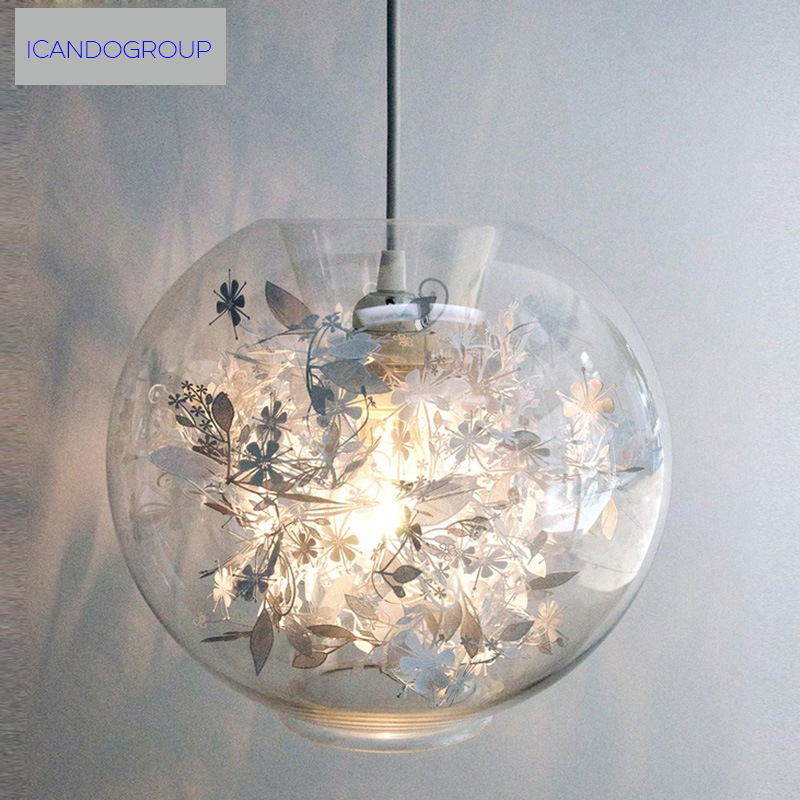 ICD60013 modern minimalist glass ball lighting bedroom American style creative arts living room light dining room pendant lights american style iron horse head creative modern simple living room resin light personalized dining room pendant lights lo892