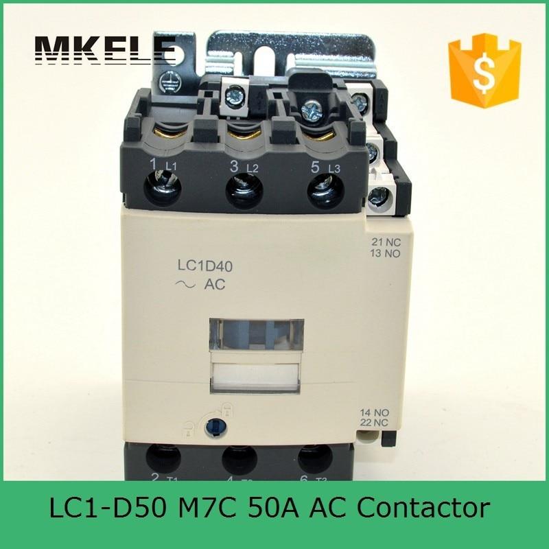 LC1-D50 M7C telemecanique contactor lc1 telemecanique contactor coil voltage 220V contactor 3P+NO+NC