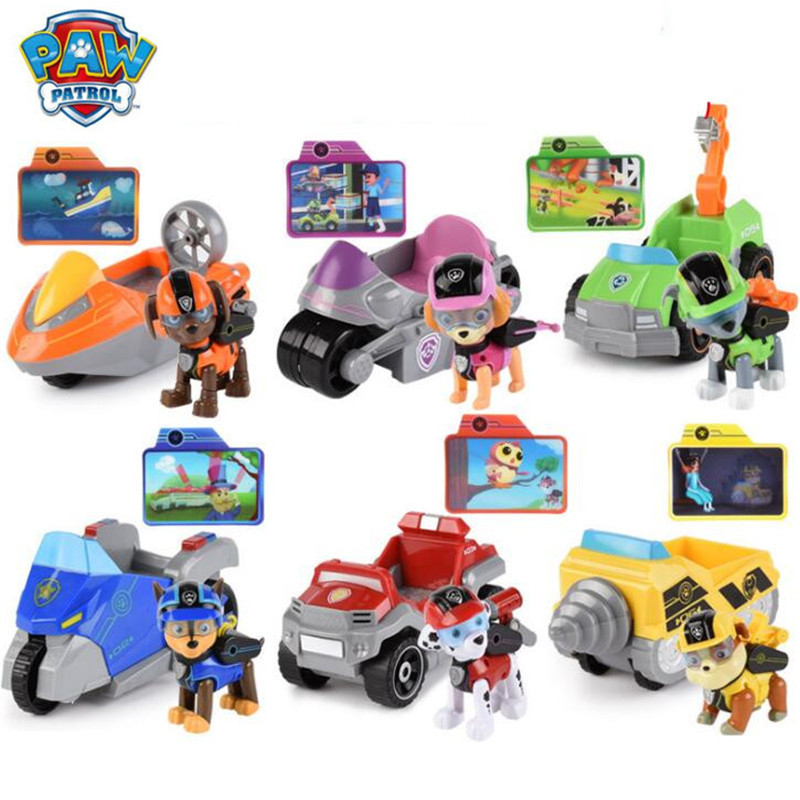 New Paw patrol Toys dog Ryder Skye Promote Sliding Blue yellow Select  Action Figure model patrulla canina toys Children Gifts