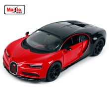 Maisto 1:24 2018 Bugatti Chiron Sport Black & Red Diecast Model Racing Car Toy New In Box Free Shipping NEW ARRIVAL 31524