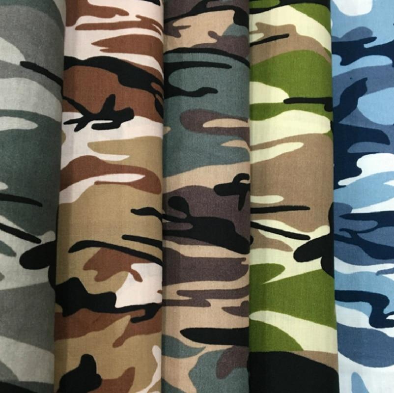 50cm*147cm Camouflage Print Cotton Cloth Camo Cotton Poplin Fabric Diy Sewing Toys Cap Tissu Delaying Senility