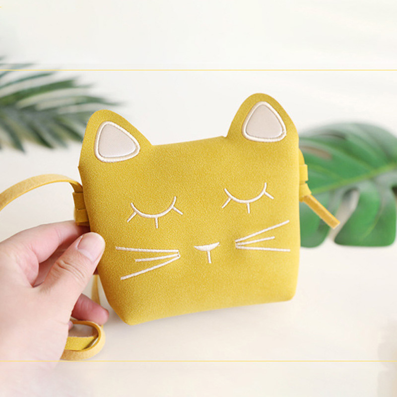 Mini Cute Cat Ear Shoulder Bag Kids All-Match Key Coin Purse Cartoon Lovely Messenger Bag Little Girl's Present(China)