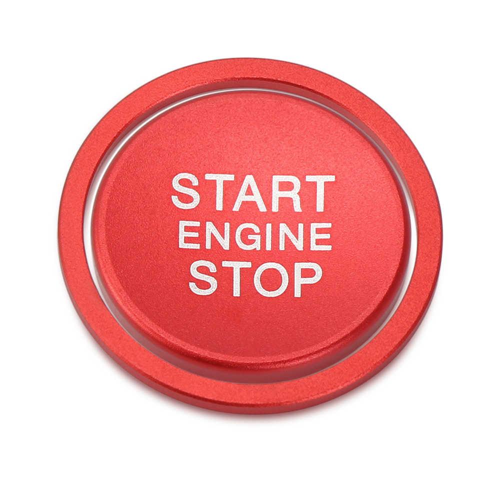 Pour VW Touareg Altas CC t-roc Touran Tiguan voiture moteur démarrage bouton d'arrêt anneau sans clé système commutateur revêtement d'habillage mise à niveau autocollant