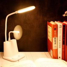 LED Eye-Caring Multifunction Pen Phone Holder Desk Lamp USB Charging Port Reading Night Light Bedroom Table with Fans Gifts