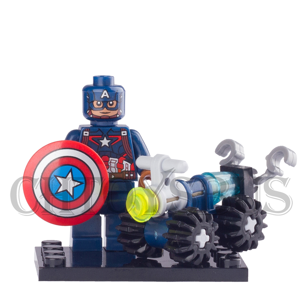 SingleSale Captain America 3 with Car Civil War Marvel Super Heroes The Avengers minifig Assemble Building Blocks Kids Toys civil war battleship the monitor level 4