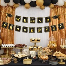 Graduation Party Banner  We are so proud of you I am done Congrats Grad Nurse Prom Decor Supplies for 2019