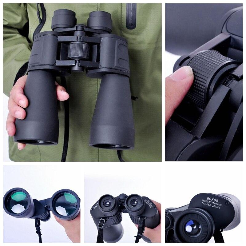60X90 HD Large Caliber Telescope Binocular High Outdoor Binoculars Night Vision Optics 2016 New